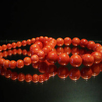 Beaded Coral Stretch Bracelets Beachy Tropical Vacation Jewelry Fashion Accessories For Her