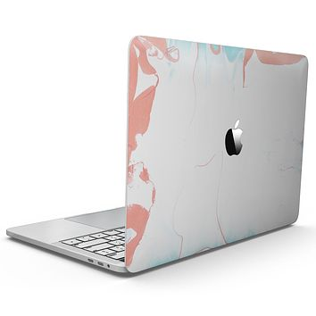 Marbleized Coral and Mint v1 - MacBook Pro with Touch Bar Skin Kit