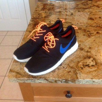 PEAPON Nike Roshe Run Sneakers 511881-041 Size 11 US Orange Blue Black