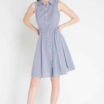 Maison Gingham Fit and Flare Dress