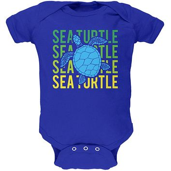 Sea Turtle Stacked Repeat Soft Baby One Piece