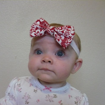 Hair Bow, Baby Headband, Baby Girl Headband, Elastic Headband Hairband Hair Band Newborn Headband Toddler Headband Red   Goodtreasures123