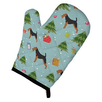 Christmas Welsh Terrier Oven Mitt BB4809OVMT