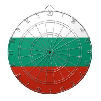 Dartboard with Flag of Bulgaria