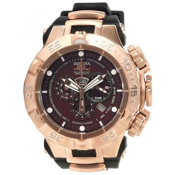 Invicta 12884 Men's Subaqua Noma V Brown Dial Rose Gold Steel Chronograph Dive Watch