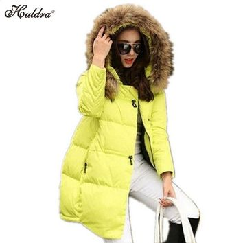 1PC 2017 Winter Jacket Women Cotton Padded Winter Coat Women Parka Thick Fur Hood Plus Size Jaqueta Abrigos Mujer Q006