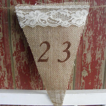 Burlap Banners are here!  You choose what you would like it to say and we will do a custom listing for you!