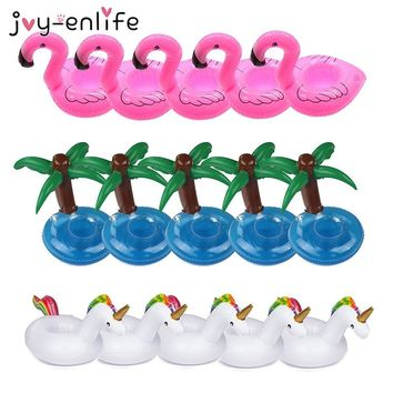 JOY-ENLIFE 15pcs Unicorn Flamingo Inflatable Cup Holder Drink Floating Party Beverage Boats Pool Hawaii Beach Party Supplies