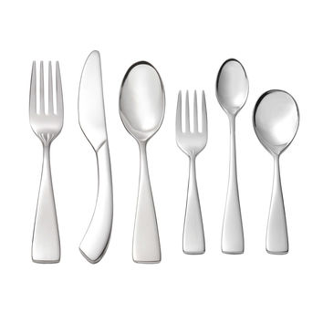 Set of 2 Oneida Curva 6 Piece Child & Baby 18/10 Stainless Flatware Set