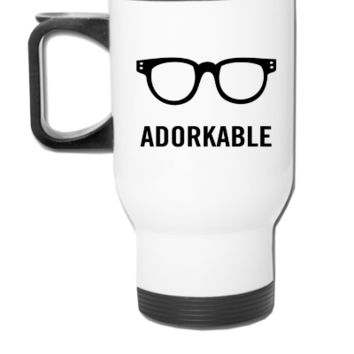 Adorkable - Travel Mug