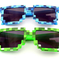 New Minecraft Sunglasses mosaic Creeper Boys Girls Kids Game Summer Toy Sunglasses Gafas Sunglasses Women spectacles