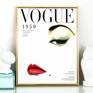 Fashion Quotes,Instant Download,Printable Art,Retro Poster,Chic Art Printable,Vintage Vogue Cover,Fashion wall Art,1950 Edition,Wall art