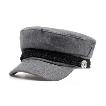 Military Cabby Hat - Grey