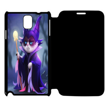 The Witch's Cat Samsung Galaxy Note 4 Flip Case Cover