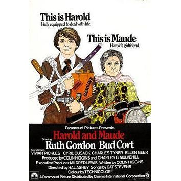 Harold And Maude Movie poster Metal Sign Wall Art 8in x 12in
