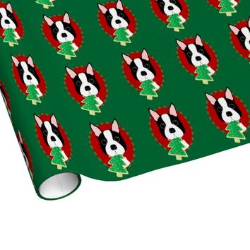 Whimsical Boston Terrier Christmas Wrapping Paper