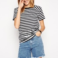 ASOS T-shirt in Stripe with Raglan Sleeve