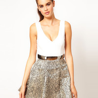 Hunt No More 'A Bright Tomorrow' Embellished Belt Dress at asos.com