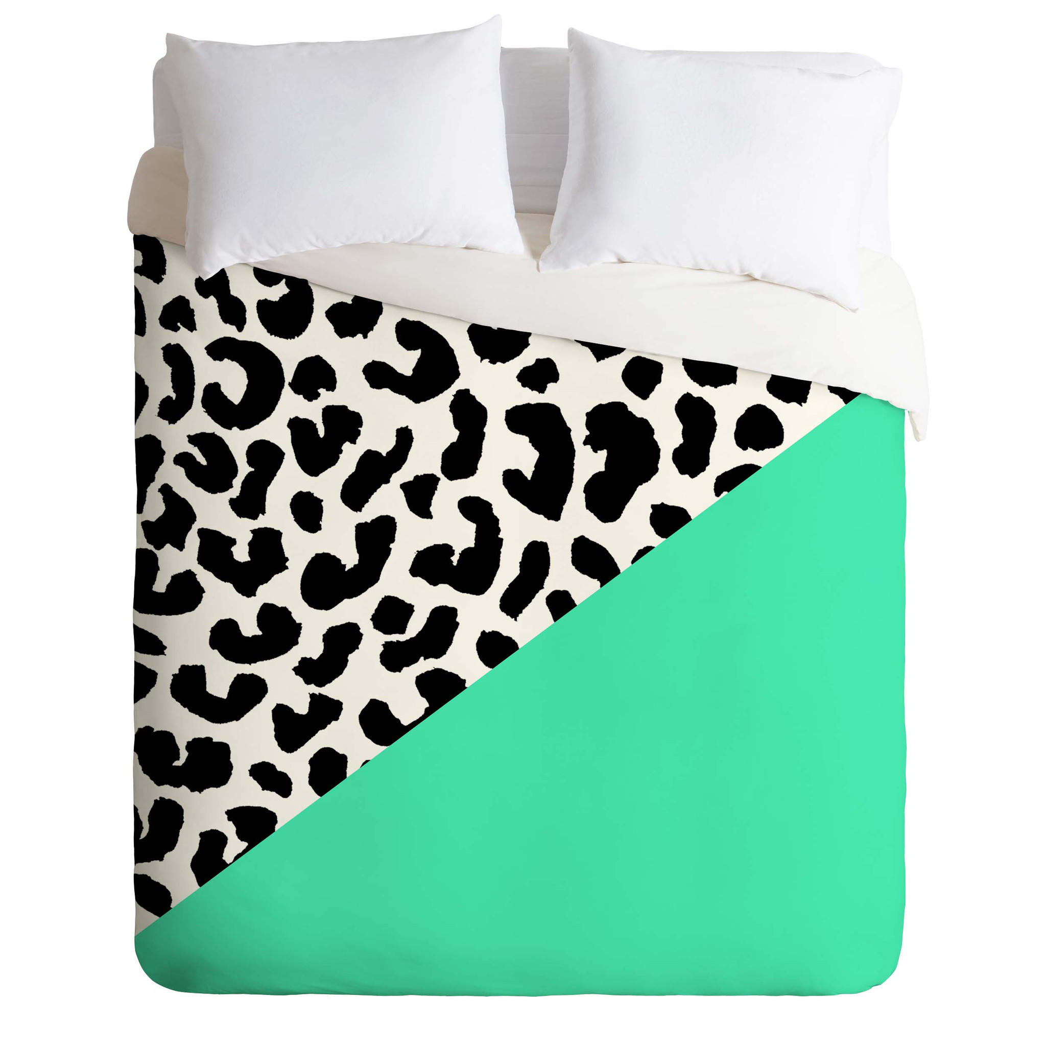 Rebecca Allen Leopard And Mint Duvet From Deny Designs