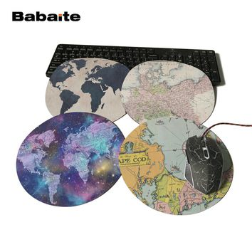 Babaite Print Antique Map of Prussia Rubber Mousepad Computer Notebook Gaming Mouse Pad Watercolor Gamer Mice Play Mats