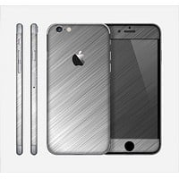 The Silver Brushed Aluminum Surface Skin for the Apple iPhone 6