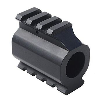 0.750 Low Profile Gas Block Dual 20mm Rail Mount Adapter with Gas Roll Pin
