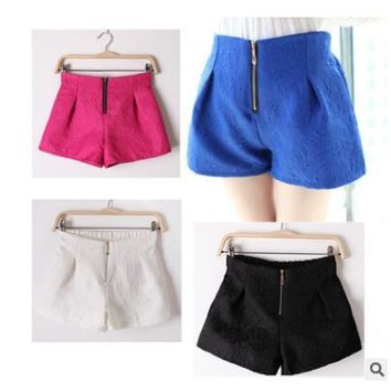 Dressy shorts with zipper front ~ 4 colors