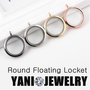 10pcs/lot Top sale 30mm Round Magnetic Living Memory Locket for Charms Floating Locket Pendants without Chain
