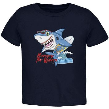 Shark Hungry for Waves Toddler T Shirt