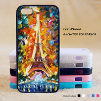 Eiffel Tower Painting Phone Case For iPhone 6 Plus For iPhone 6 For iPhone 5/5S For iPhone 4/4S For iPhone 5C3 iPhone X 8 8 Plus