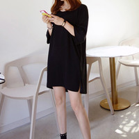 Loose Fit T-Shirt Dress - Miamasvin loves u! Womens Clothing. Korean Fashion.