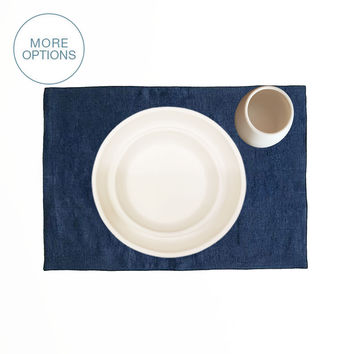 "USA Made French Linen 19"" Placemat"