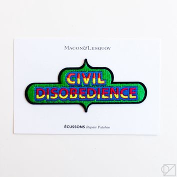 Macon & Lesquoy Civil Disobedience Hand Embroidered Patch