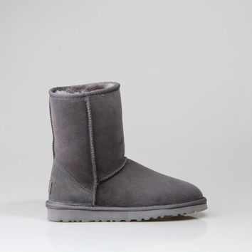 UGG 1016223 Classic Mid Waterproof Women Men Fashion Casual Wool Winter Snow Boots Grey