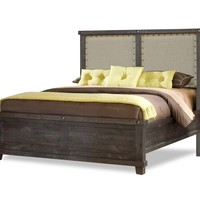 Vantage Fabric Back Bed RUSTIC BLACK