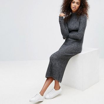 Ganni Connel Knitted Wool Blend Maxi Dress at asos.com