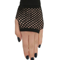 Black Fishnet Fingerless Gloves