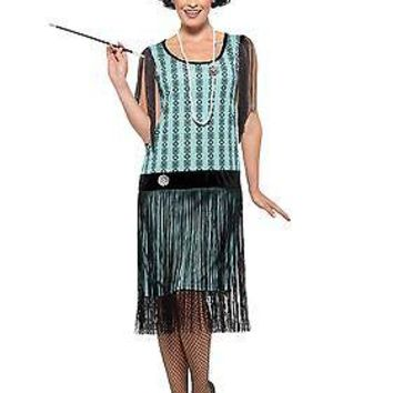 Women's 1920s Mint Coco Flapper Costume