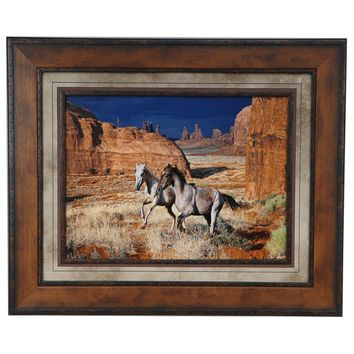 Best Friends Wild Horses Framed Print By Crestview Collection