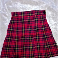 SWEET LORD O'MIGHTY! CHECKERED TENNIS SKIRT IN RED