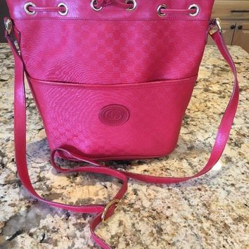Gucci Vintage Red Purse Handbag Shoulder Bag Cross Body