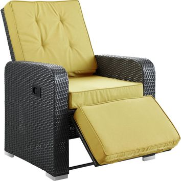 Modern Patio Furniture Commence Armchair Recliner Espresso Peridot Cushions