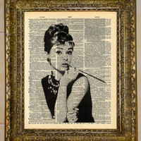 Audrey Hepburn Dictionary Art