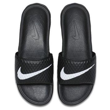 Nike Benassi Solarsoft TB Black White Mens Sandal Slides Slippers 831171 010 8