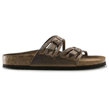 Birkenstock Granada Soft Footbed Oiled Leather Tobacco Brown 92883 Sandals - Ready Sto
