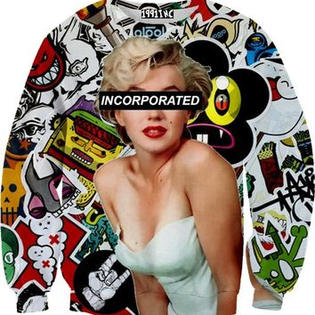 ☮♡ Marilyn Collage Sweater ✞☆
