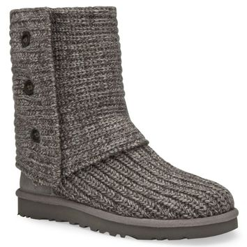 Ugg Ugg Women's Classic Cardy Boots (8 B(M) Us, Navy/Charcoal)