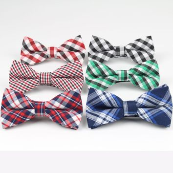 Boys Plaid and Checks Multicolor Bowties