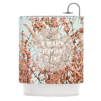 "Robin Dickinson ""In Heaven"" Cherry Blossom Shower Curtain"