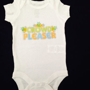 """Cute baby girl Onesuit-- Newborn """"crowd pleaser"""" Onesuit-- Ready to ship"""
